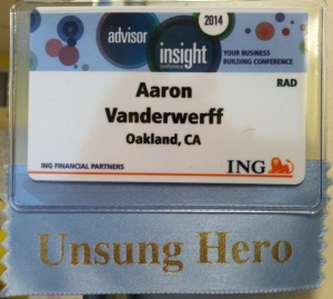 Unsung Hero Nametag