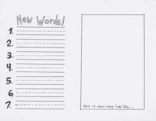 (D-1) Making Journals ELEM Template NEW WORDS
